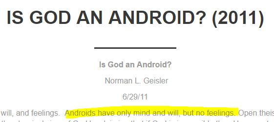 Androidopomorphism? A Response to Norman Geisler's View of Divine ...